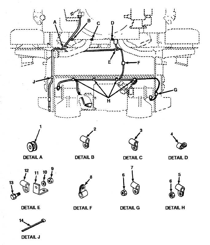 figure 64  engine wiring harness brackets and clamps