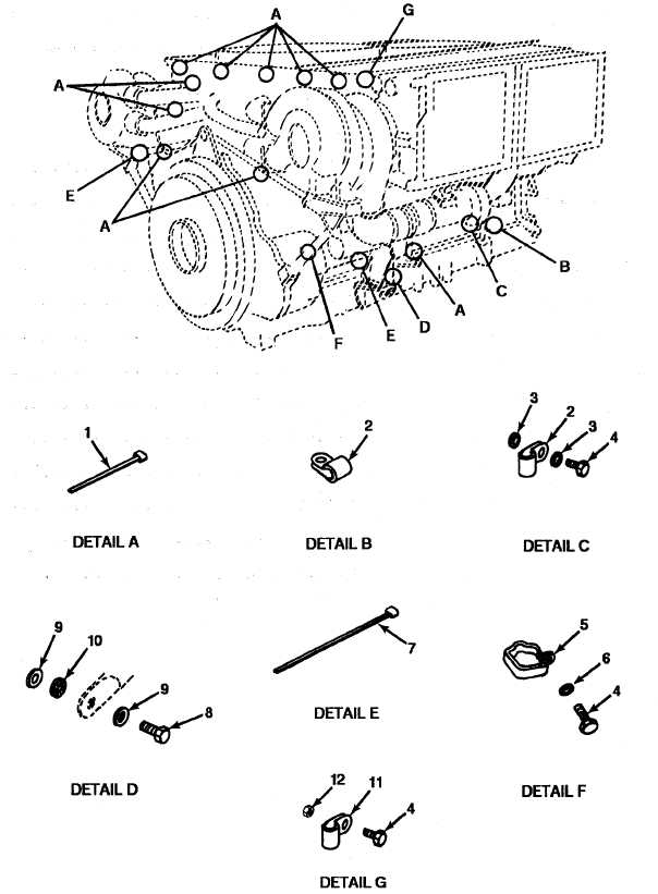 figure 66  engine wiring harness clamps  model avds